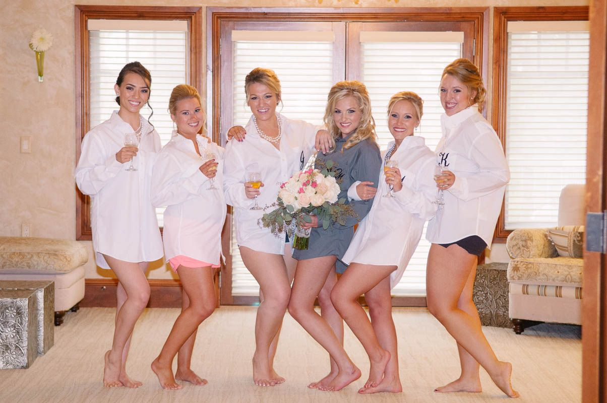 Get a shot of the bridesmaids before they get dressed!