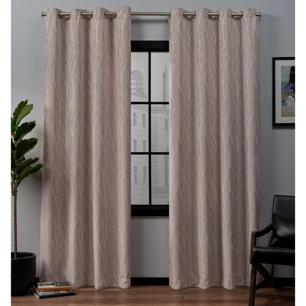 Exclusive Home Curtains Forest Hill 52 In W X 84 In L Woven
