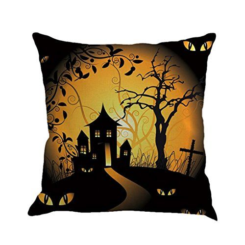 Gotd Vintage Halloween Pillow Covers Decorations Throw Pillow Case