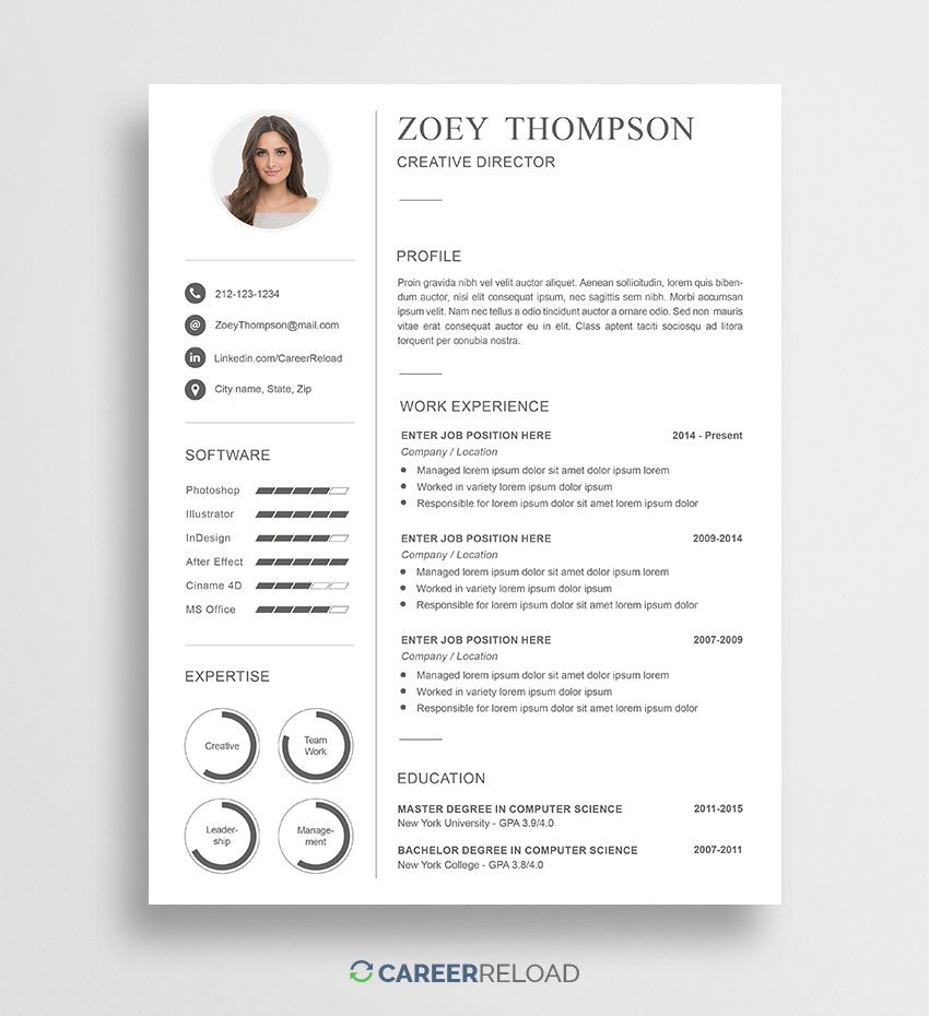 resume template download Free professional