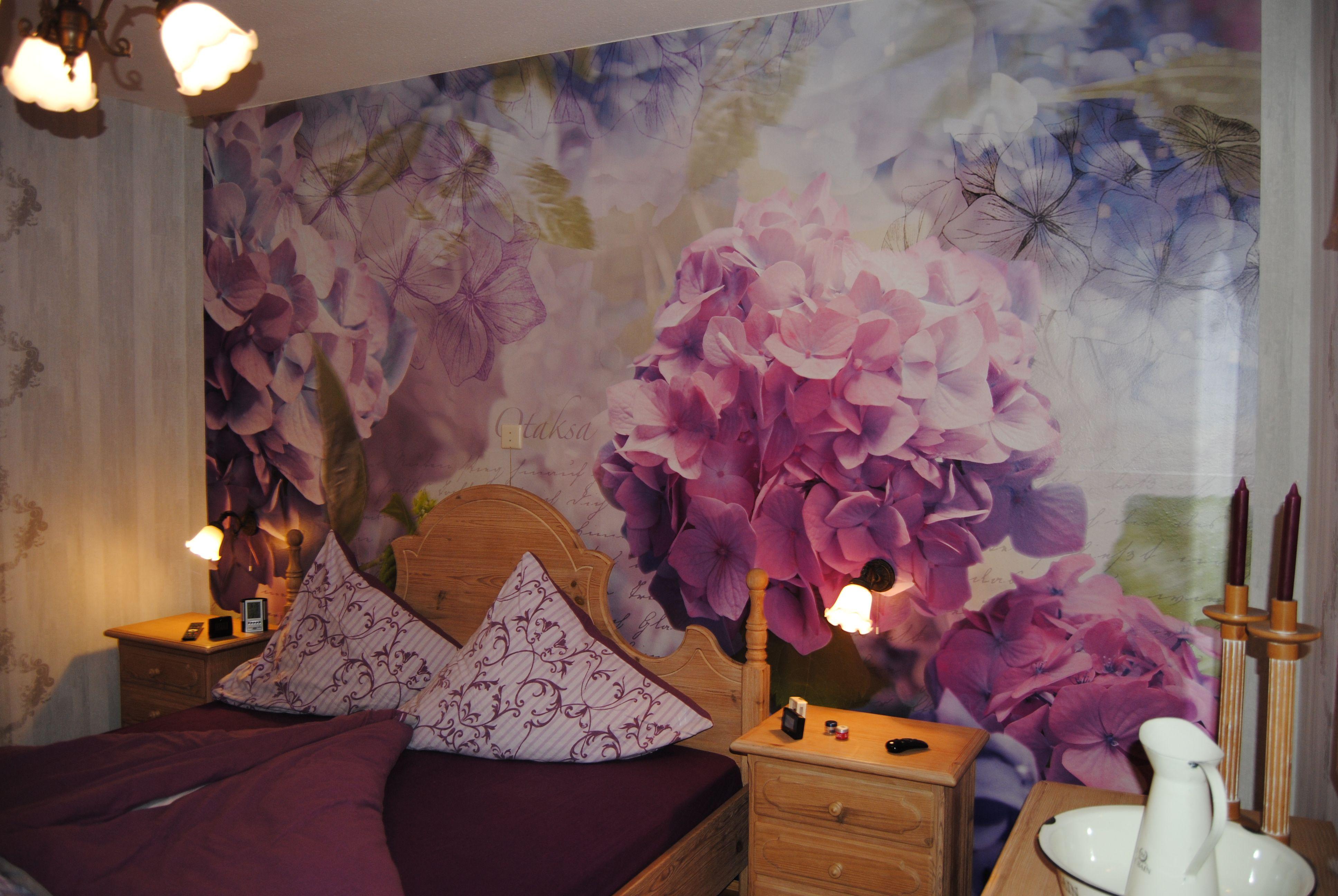 3ec6bc4b5d2cd Hydrangea - Fototapete - Schlafzimmer | Hortensien | Fototapete ...
