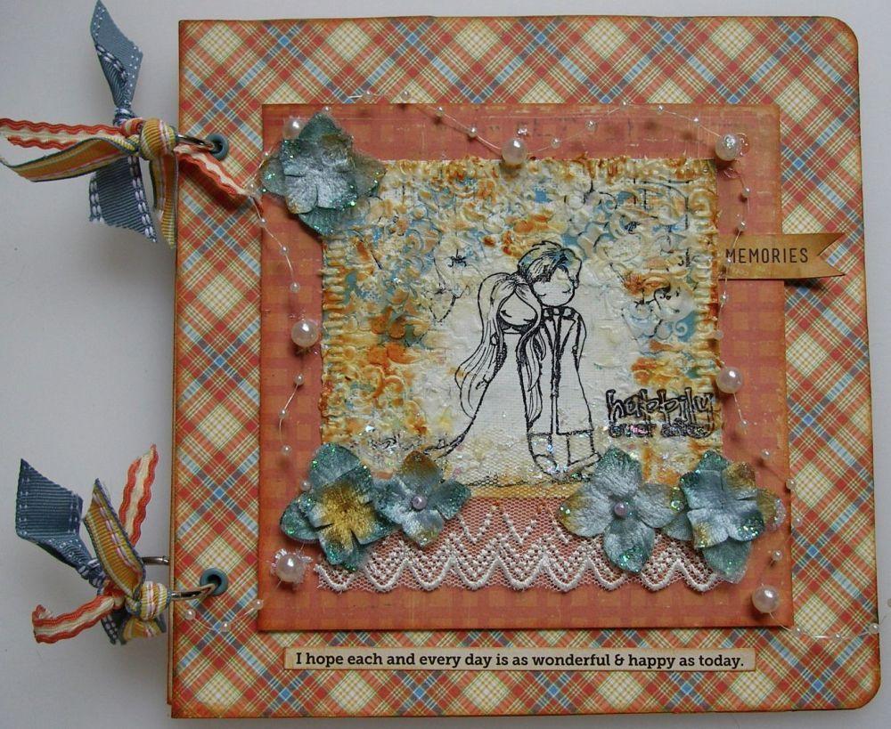 How to scrapbook uk - Handmade Wedding Anniversary Scrapbook Photo Album For Sale Scrappykatzcraftbarn Co Uk