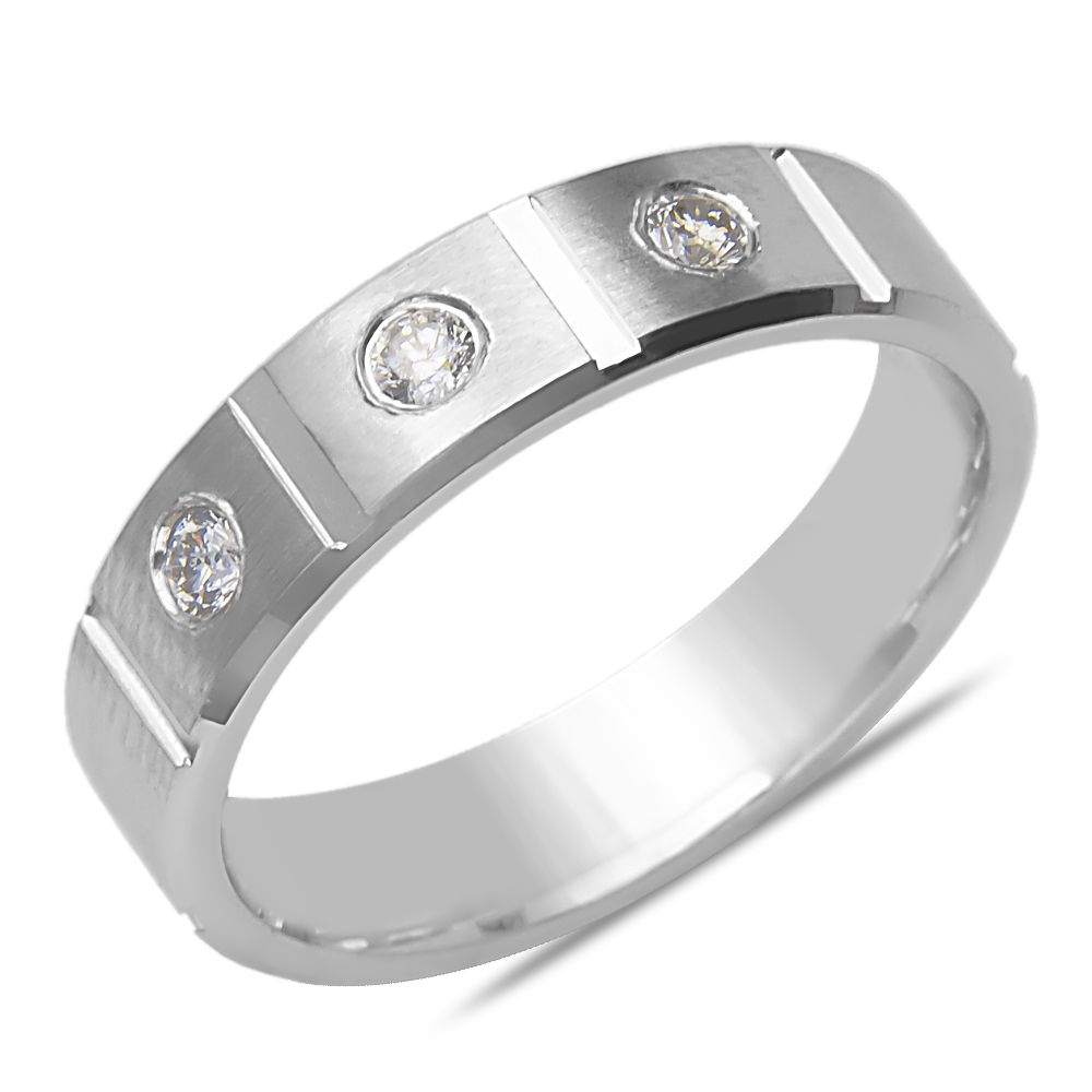 Ebay NissoniJewelry presents - Men's 1/5CT Diamond Solid Wedding Band in 14k White Gold    Model Number:GRV1288D-W476    http://www.ebay.com/itm/Men-s-1-5CT-Diamond-Solid-Wedding-Band-in-14k-White-Gold/321612164600