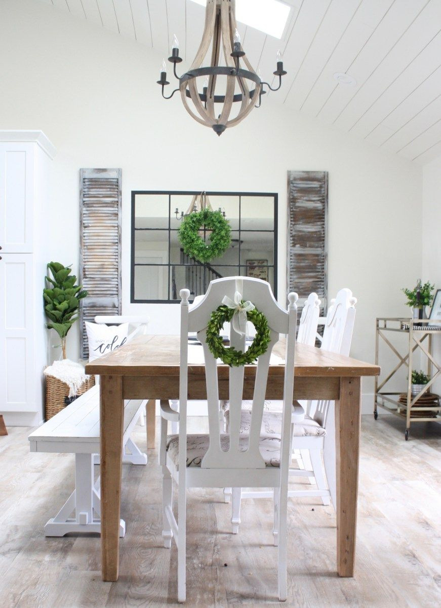 Diy Windowpane Mirror For Farmhouse Dining Room Using The Ikea Lots Mirrors Mirror Dining Room Farmhouse Dining Room Dining Room Mirror Wall