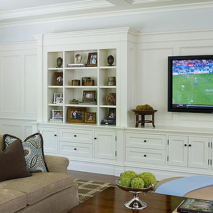 Built in cabinets transitional living room alisberg parker architects for the home in 2019 for The parkers tv show living room