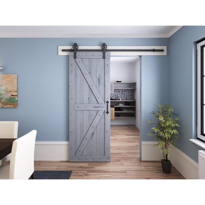 Spoke Wheel Single/Double Barn Door Hardware Kit In 2020