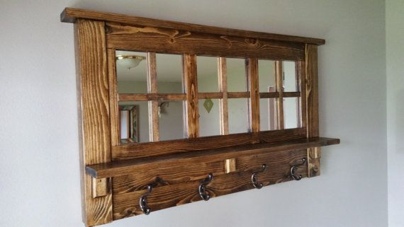 Coat Rack Wall Coat Rack Mirrored Coat Rack Rustic Coat Coat