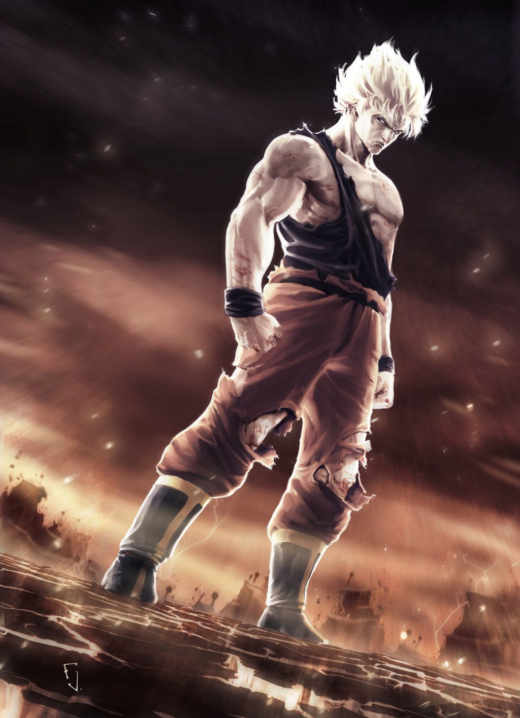 Super Saiyan Retouched Version Dragon Ball Dragon Ball Art Dragon Ball Artwork