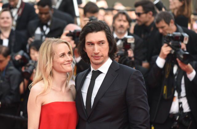 Adam Driver and Joanne Tucker on the Cannes back in 2016