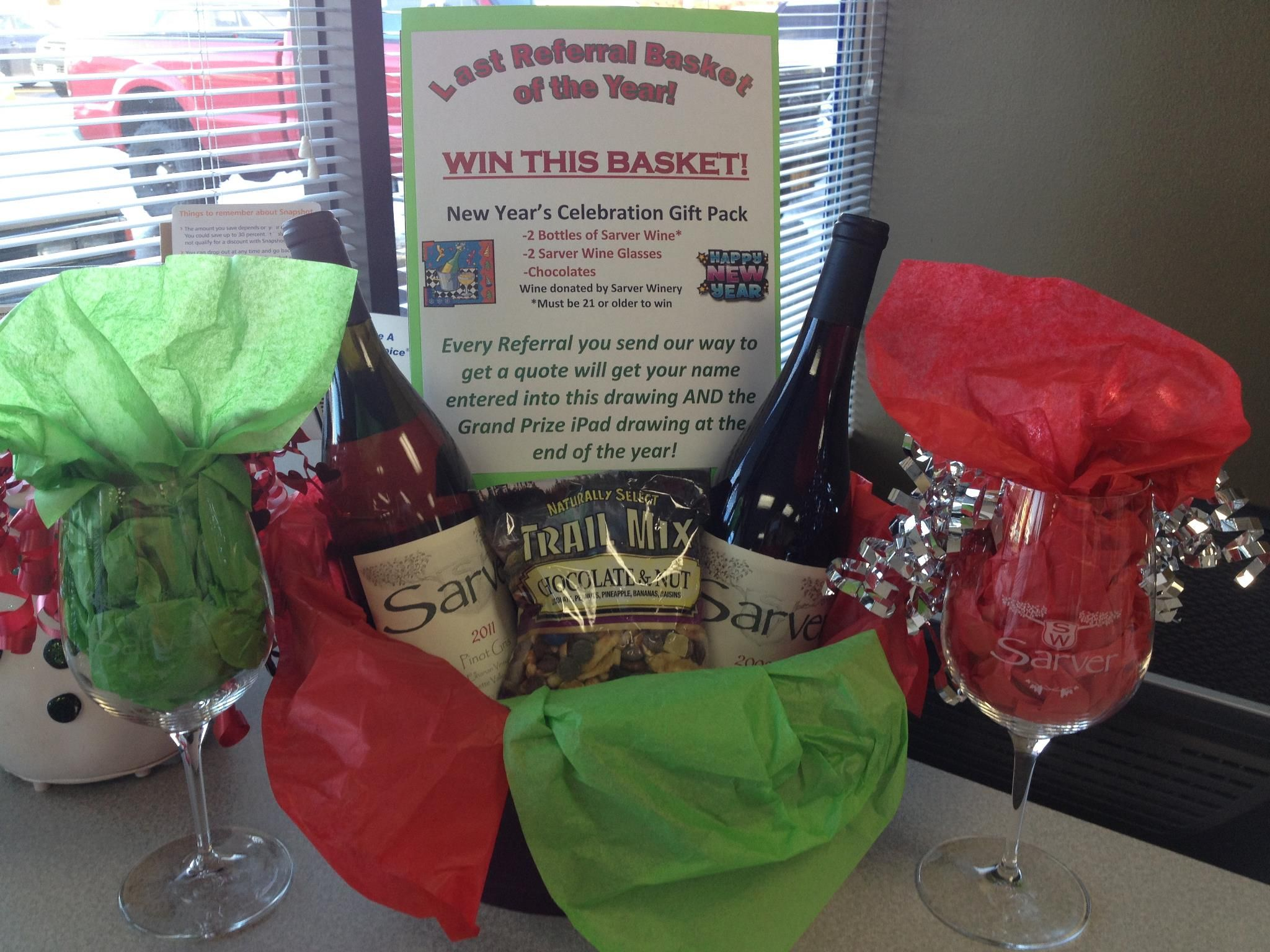 Last Chance Referral Month Celebrate In Style With This Festive New Years Basket From Sarver Winery With Images Trail Mix New Year Celebration Snacks