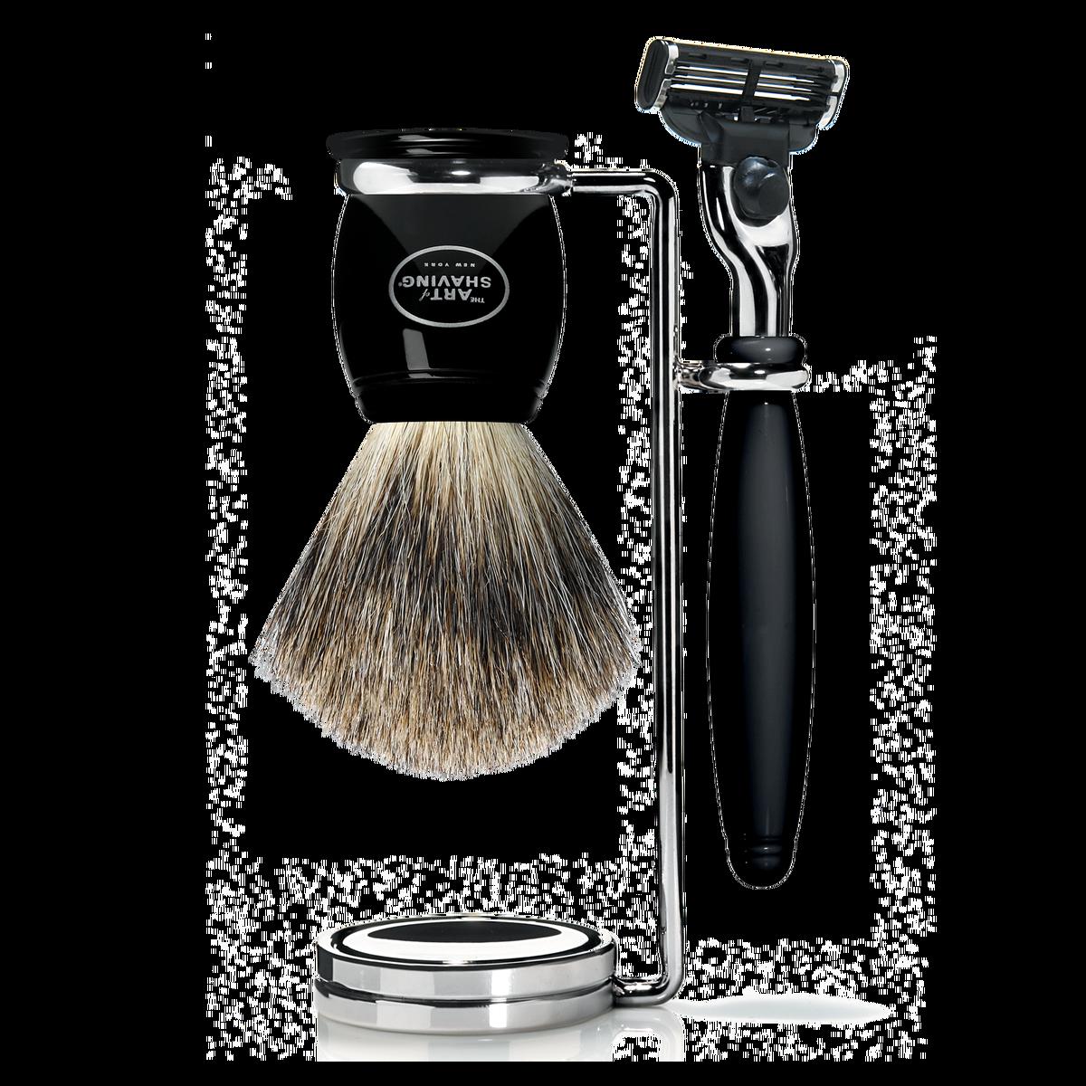 Mach 3 Compact Shaving Set - Black