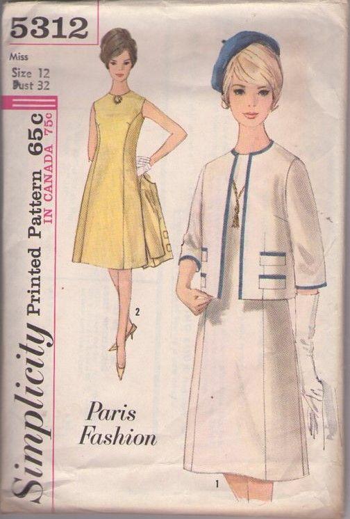 MOMSPatterns Vintage Sewing Patterns - Simplicity 5312 Vintage 60\'s ...
