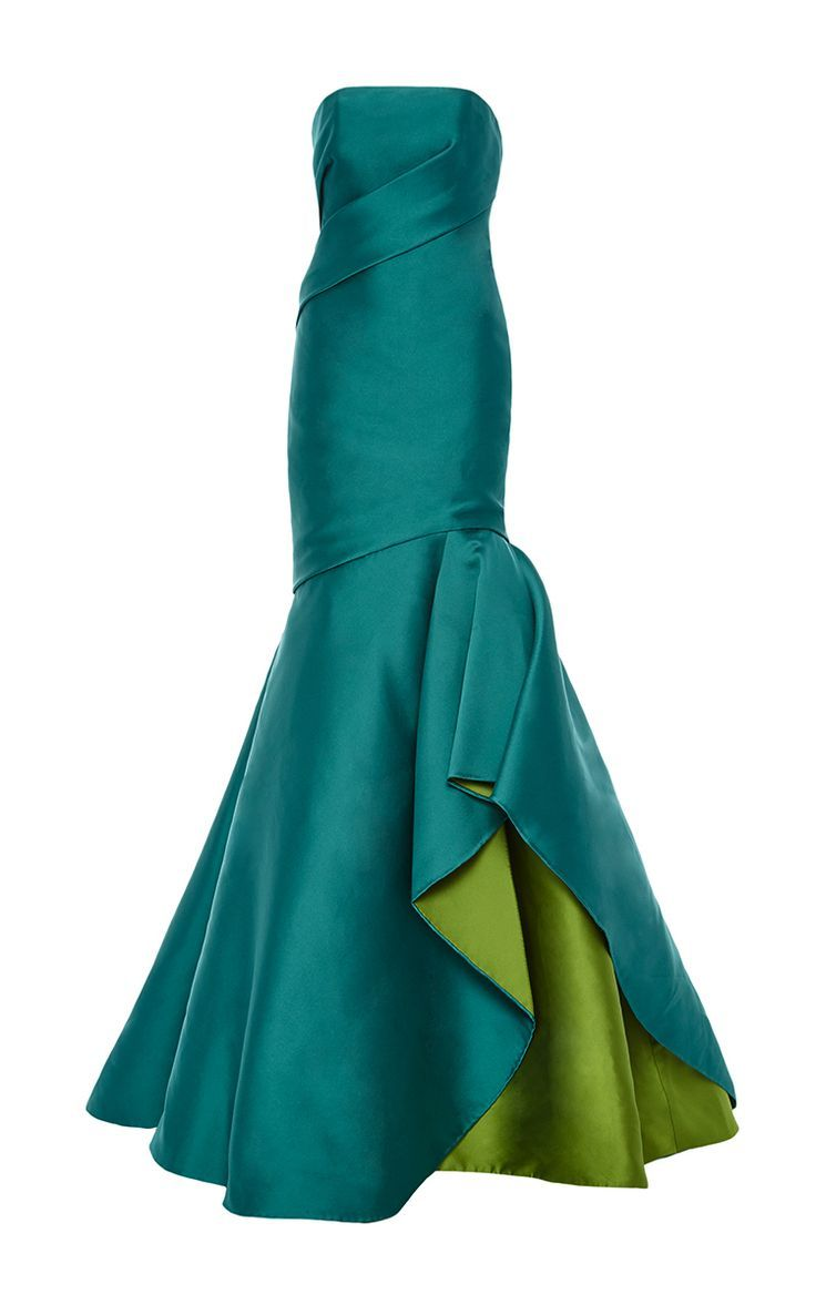 Double Face Strapless Draped Gown by Monique Lhuillier for Preorder on Moda Operandi