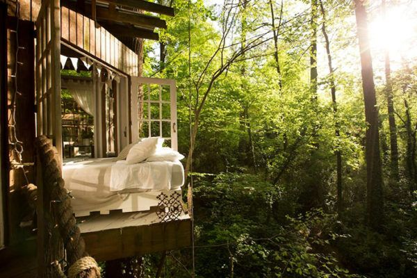 Incredible Three Part Treehouse Cabin In Atlanta Arecibo