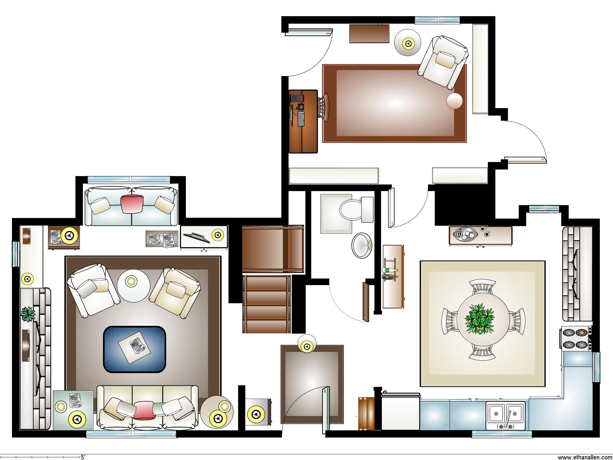 floor plan for Rosehill cottage in the movie \