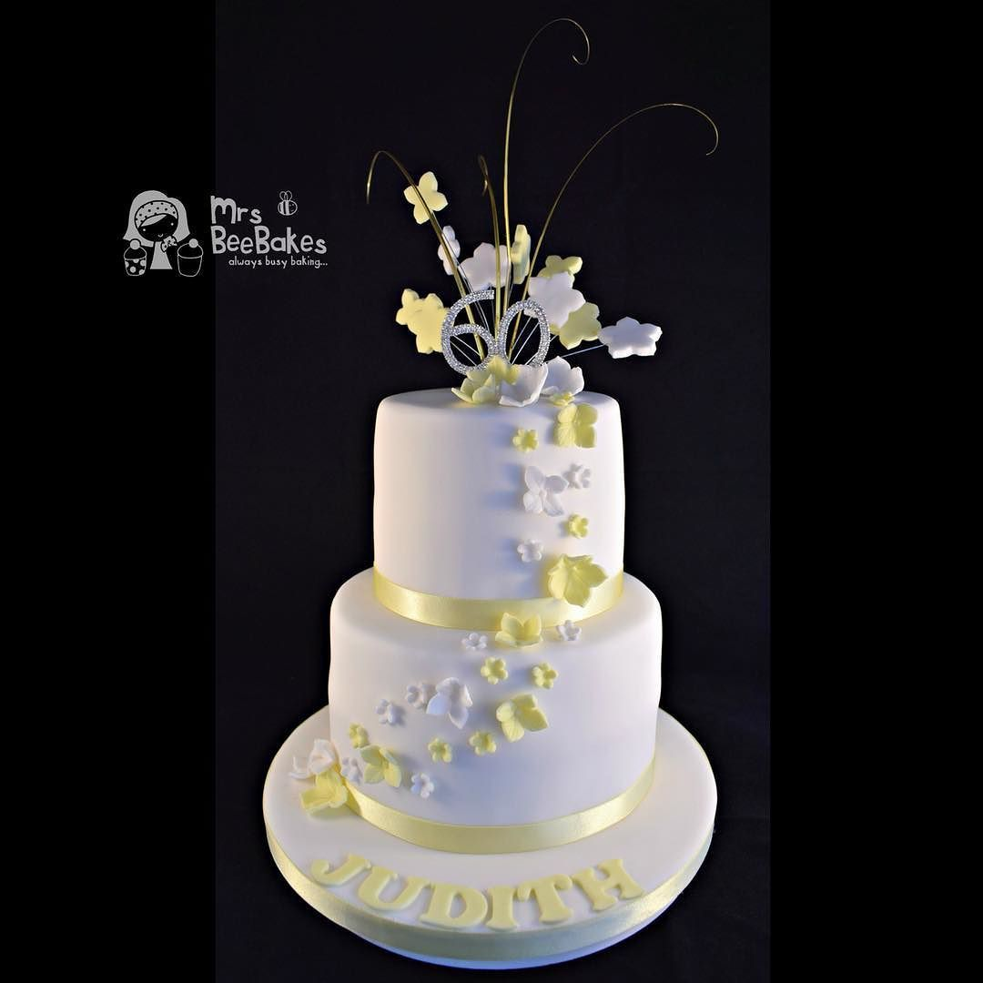 This two tier celebration cake left bee hq last week to help with