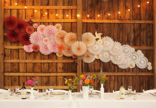 This past weekend I created a paper backdrop for the bride and groom's head table at a beautiful barn wedding in the Catskills. From the ceremony to the reception, the entire wedding was abs…