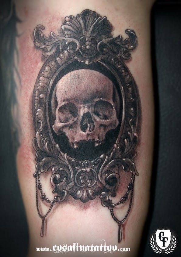 Antique Frame Tattoo Tattoo antique frame skull | Plan A | Pinterest