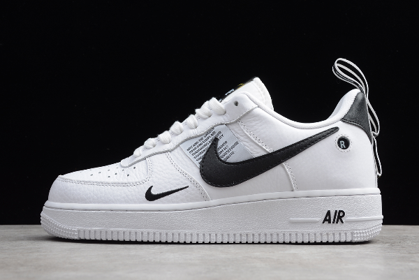2020 Nike Air Force 1 07 Lv8 Utility Overbranding White Black Tour Yellow Aj7747 100 In 2020 Nike Air Force Nike Nike Air