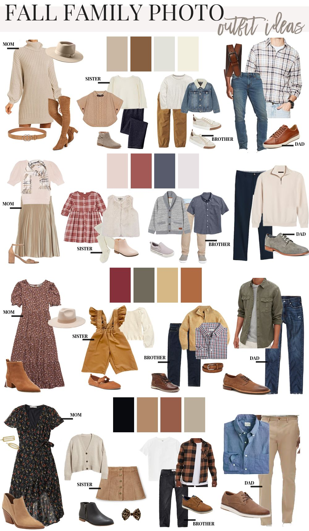 It's Fall Family Photo season and I am excited to bring you a few outfit ideas and color palettes to work from!!! I hope these…