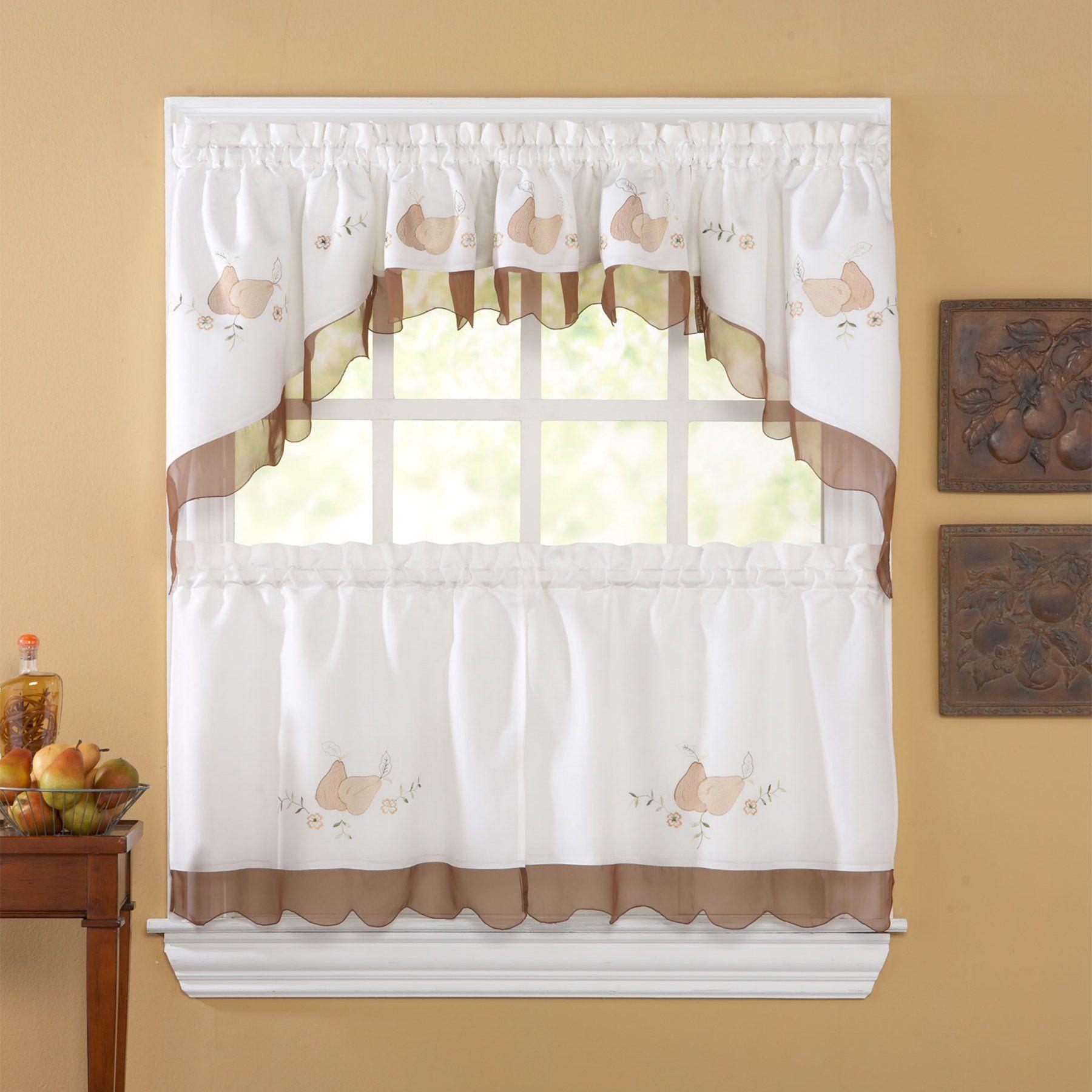 Exceptionnel CHF Anjou Pear Kitchen Curtain Set   CHFI167