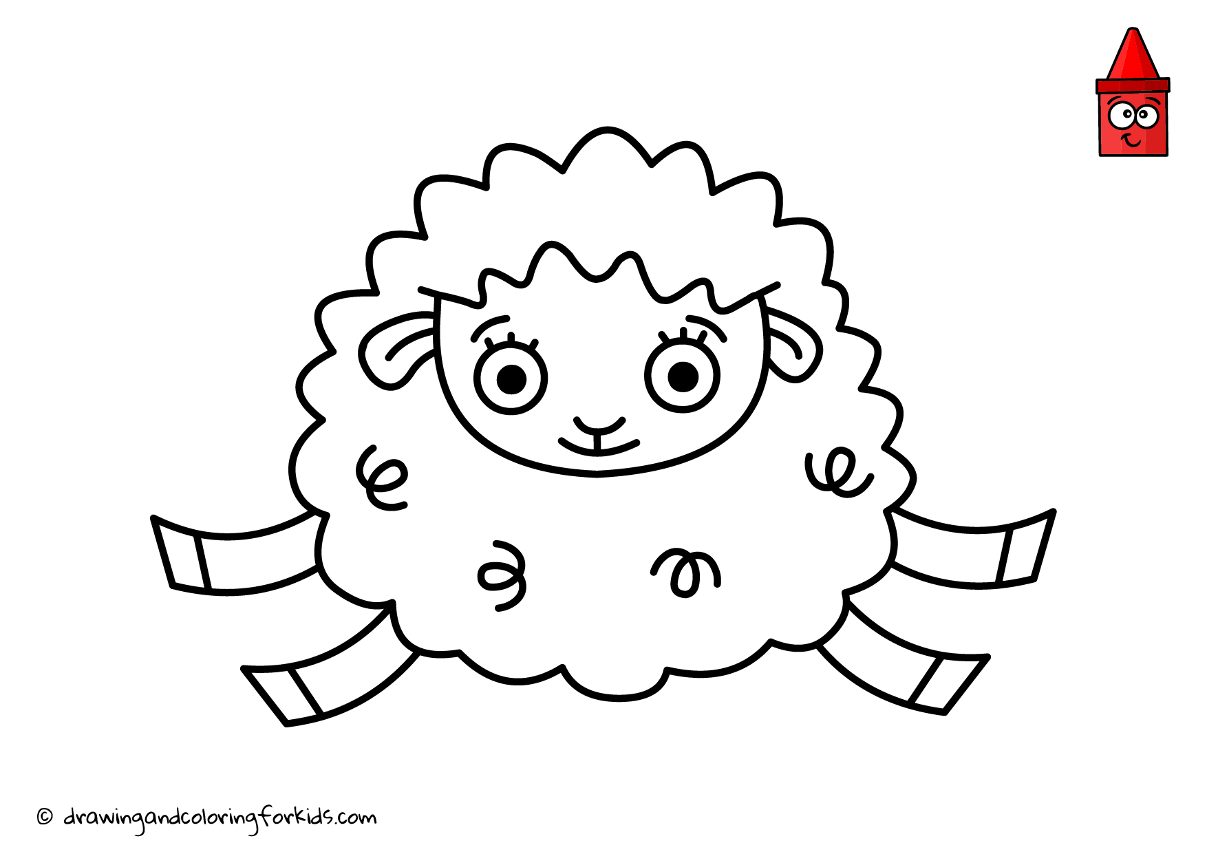 Coloring Page - Sheep | Coloring Pages For Kids | Pinterest