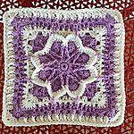 Fall Blossom Free Crochet Granny Square Pattern