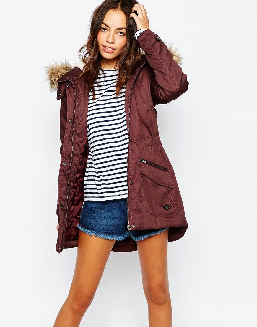 Only Faux Fur Parka Jacket at asos | Outerwear Love | Pinterest ...
