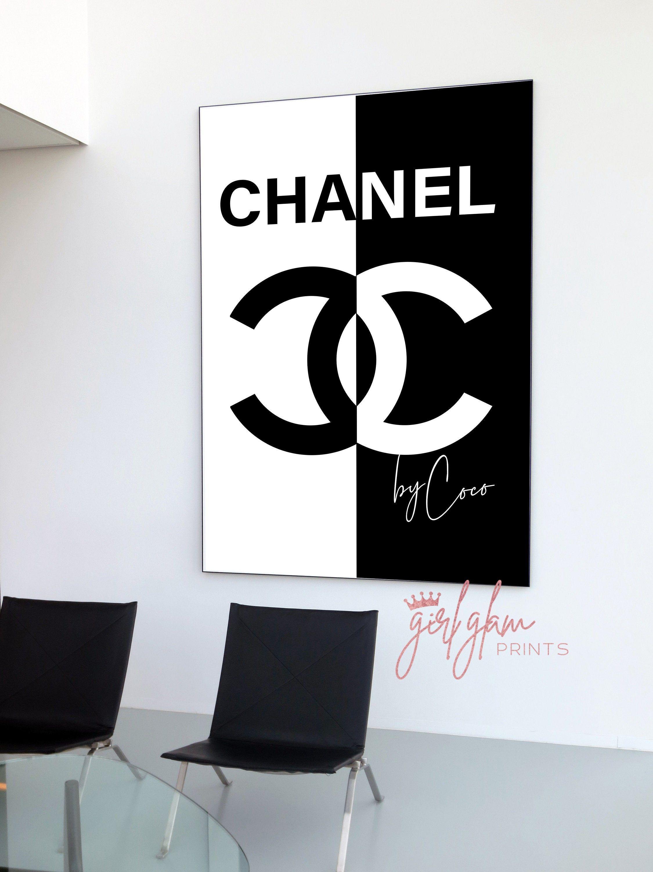 Coco Chanel Print Chanel Wall Art Black White Print Chanel Decor Chanel Poster Fashion Prints Fashion Wall Chanel Wall Art Fashion Wall Art Chanel Art