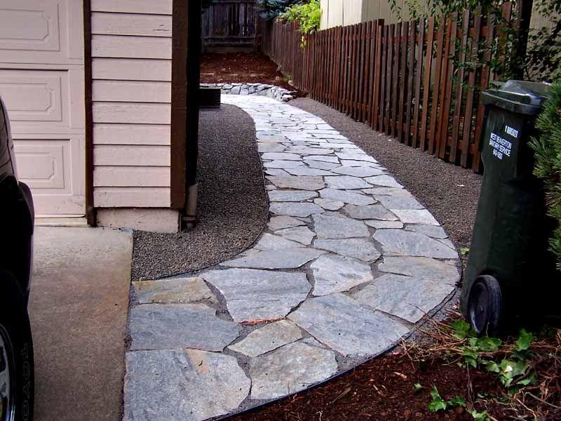 Flagstone PathwayFlagstone Pathway   Outside deco   Pinterest   Flagstone  . Flagstone Sidewalk Pictures. Home Design Ideas