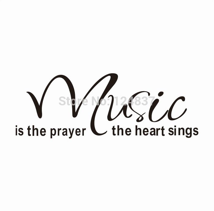 Wall decals, Music, Quotes