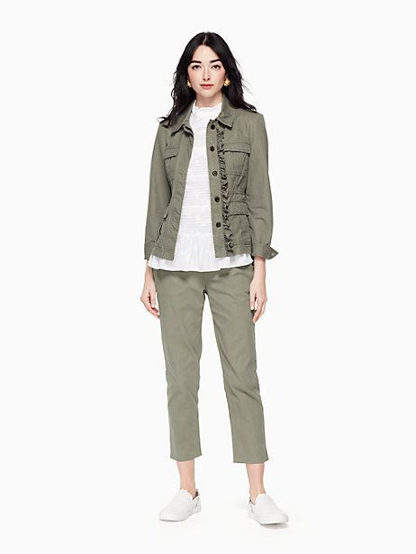 fd8557988 Kate Spade Slim Straight Chino, Olive Green - Size 10 | Products ...