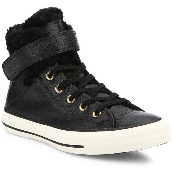 f6e2f2a3eed1b Converse Chuck Taylor All Star Brea Leather   Faux Fur High-Top... ( 84) ❤  liked on Polyvore featuring shoes