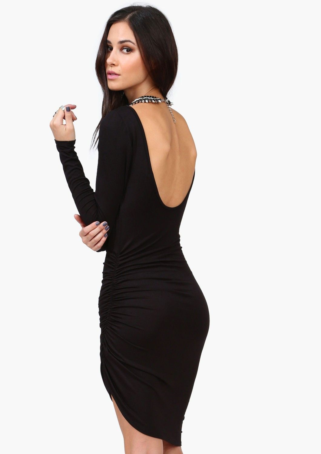 Low back long sleeved casual pinterest lbd clothes and