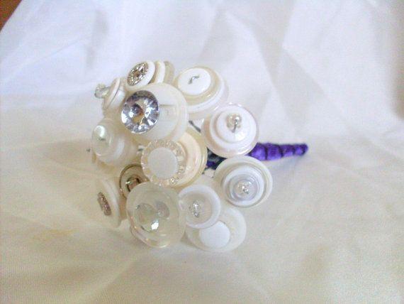 White toss bouquet button bouquet your choice by AngelasArtistic $22 #Wedding #Art #Design #Events #Fashion #IDo #FollowMe #Gift #Homemade #Unique #Decor #Sweet #WeddingWonderland #BridalShower #Craft #WeddingFlowers #Bouquet #Nontraditional #Flowers #Love #Bridal #TossBouquet #glam #Blingbling #flowergirl