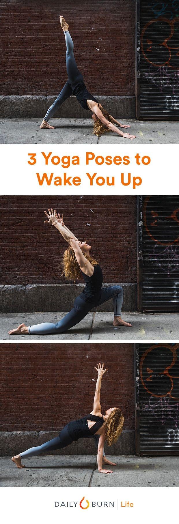 3 Easy Yoga Poses To Wake You Up Yoga Poses Advanced Advanced Yoga Easy Yoga Poses
