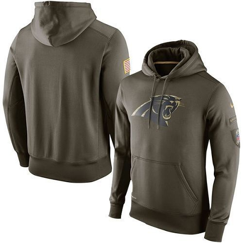 new concept 318de d058d Carolina Panthers Salute to Service Hoodie, Nike Military ...