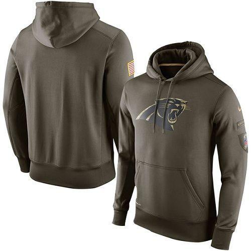new concept e64e9 cfc73 Carolina Panthers Salute to Service Hoodie, Nike Military ...