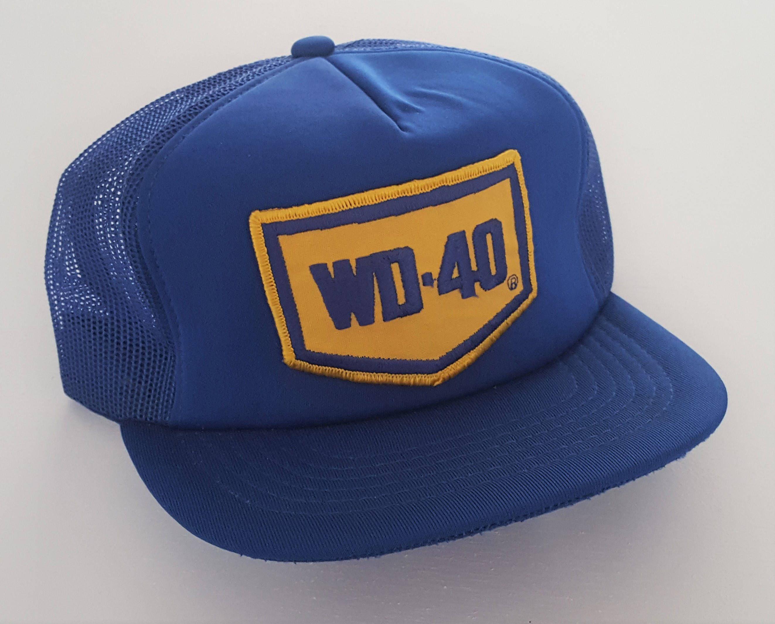Vintage WD-40 Trucker Style Snapback Hat VTG by StreetwearAndVintage on Etsy 63a2353a8fd