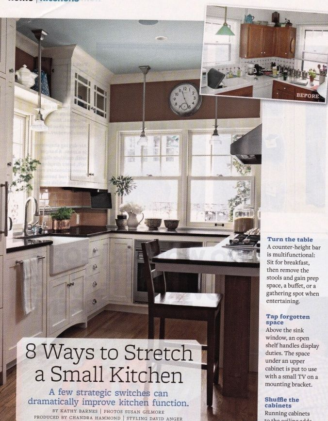 Kitchen Before And After Bhg Magazine Flott Að Lyfta Skápunum Simple Bhg Kitchen Design Decorating Design