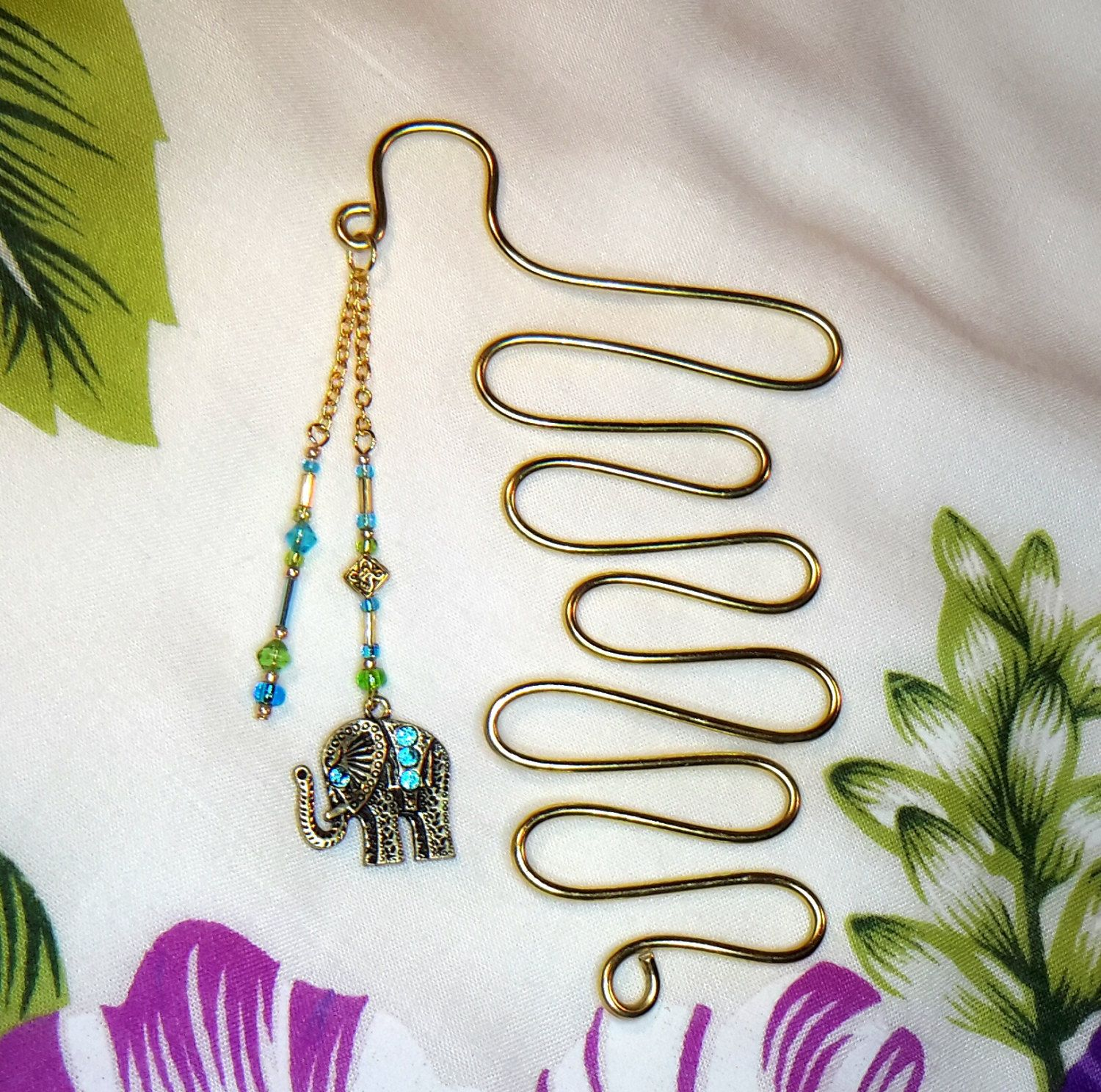 Wire Elephant Bookmark Wiring Info Ideal Circuit Breaker Finder 61532 Manual Unique Gold With Blue And Green Beaded Dangle Rh Pinterest Co Uk Clay