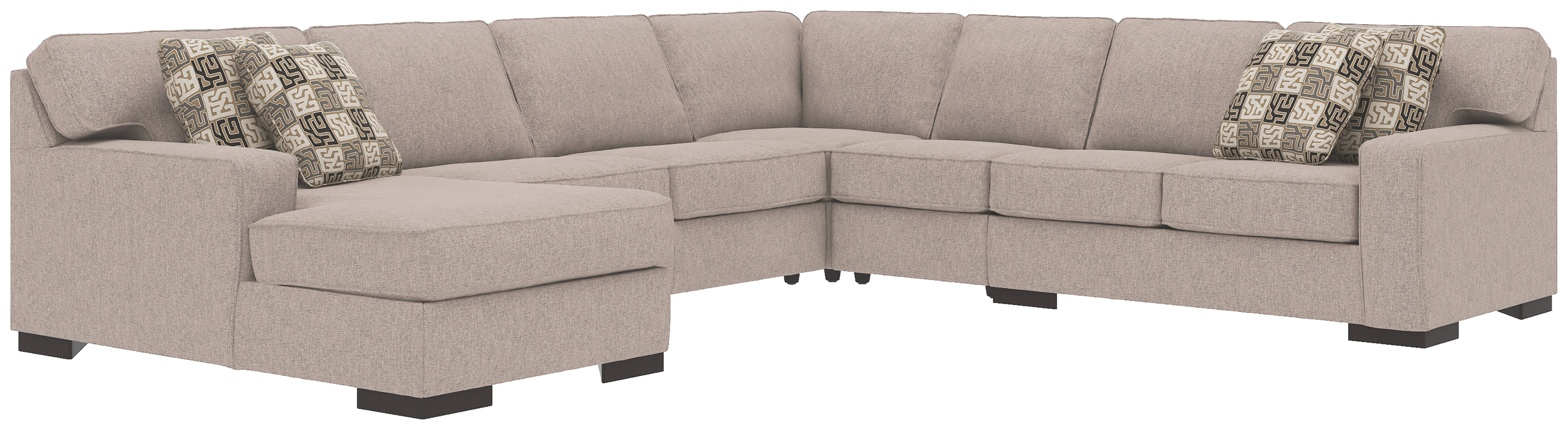 Strange Ashlor Nuvella 5 Piece Sleeper Sectional And Pillows Pabps2019 Chair Design Images Pabps2019Com