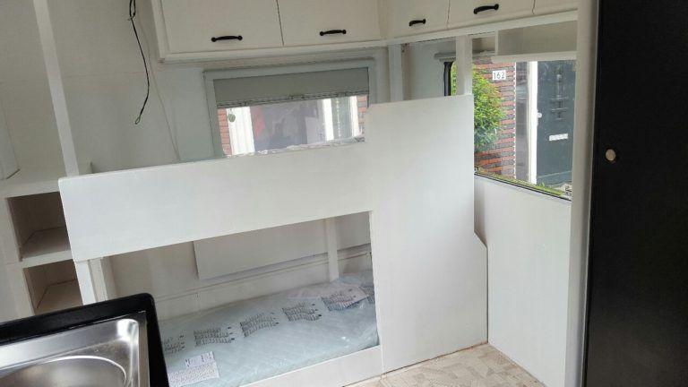 Ein Hochbett Im Wohnwagen Bauen Mit Bildern Wohnwagen Wohnen