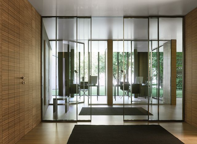 Sliding Door X2f Glass X2f Double X2f Full Height Pavilion Minimal By Antonio Citterio Tre P Amp Tre Piu Doors Interior Design Windows And Doors