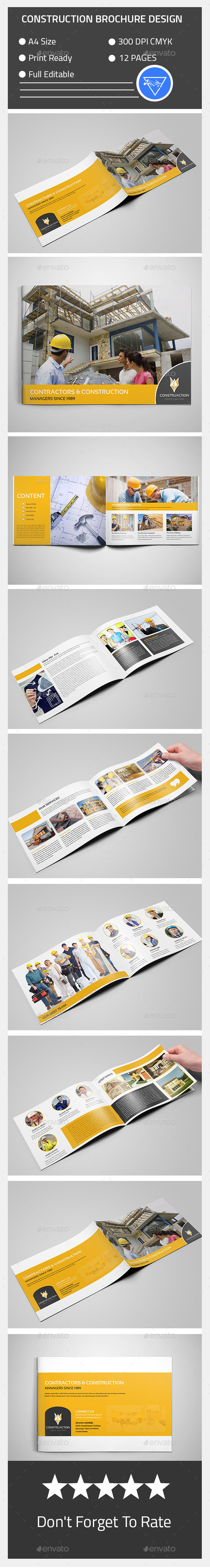 Get Your Attractive And Professional Realestate Brochure Design - Construction brochure templates