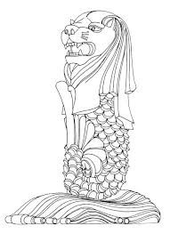 Image result for clipart of black and white merlion at