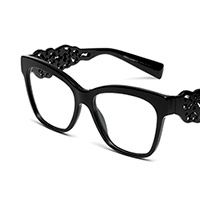 Women's eyeglasses with black square-shaped frame dg3236 Dolce