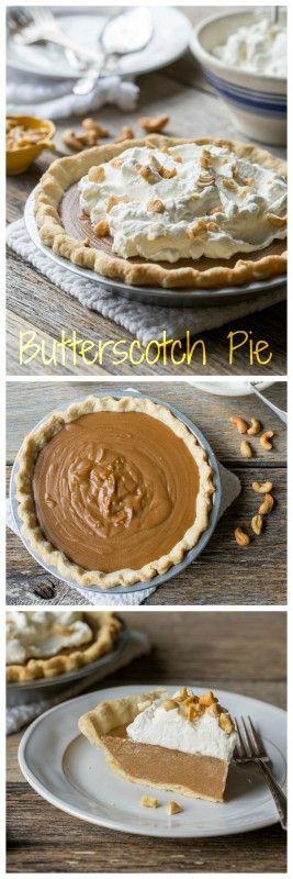 Old Fashioned Butterscotch Pie   www.savingdessert...