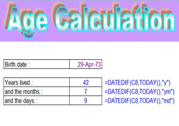 How to Calculate Age in MS Excel #ExcelFormulas AllAboutTech