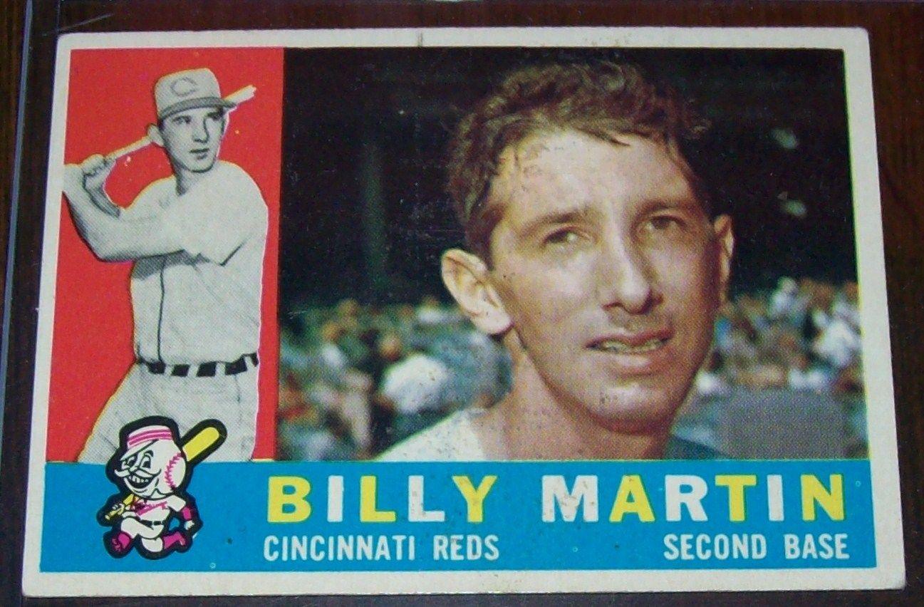 Billy Martin Topps 1960 Football Baseball Cards